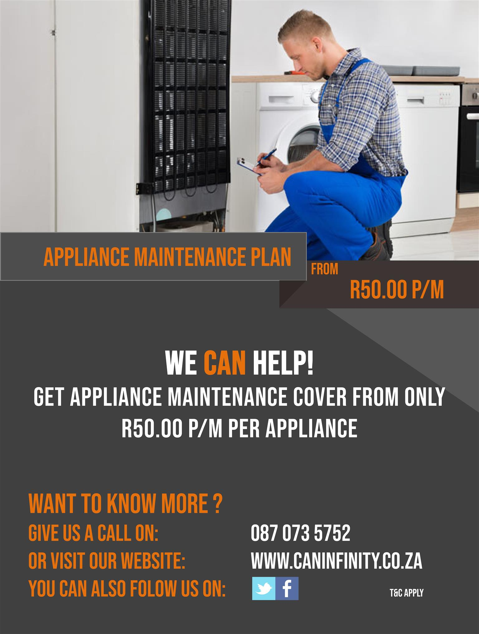 Appliance Maintenance Cover