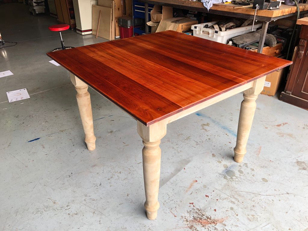 Four seater dining room table - refurbished