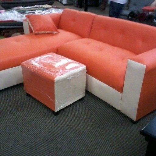 New corner L shape sofa with cushions & ottoman