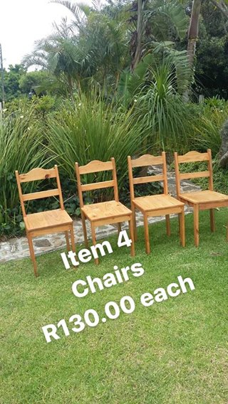 Four chairs for sale