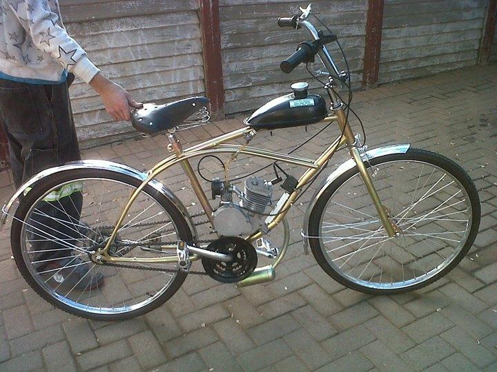 Golden Motorized petrol bicycle