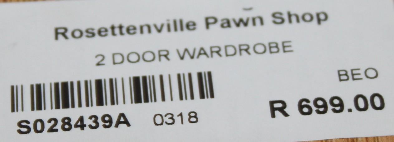 2 Door Wardrobe S028439a #Rosettenvillepawnshop