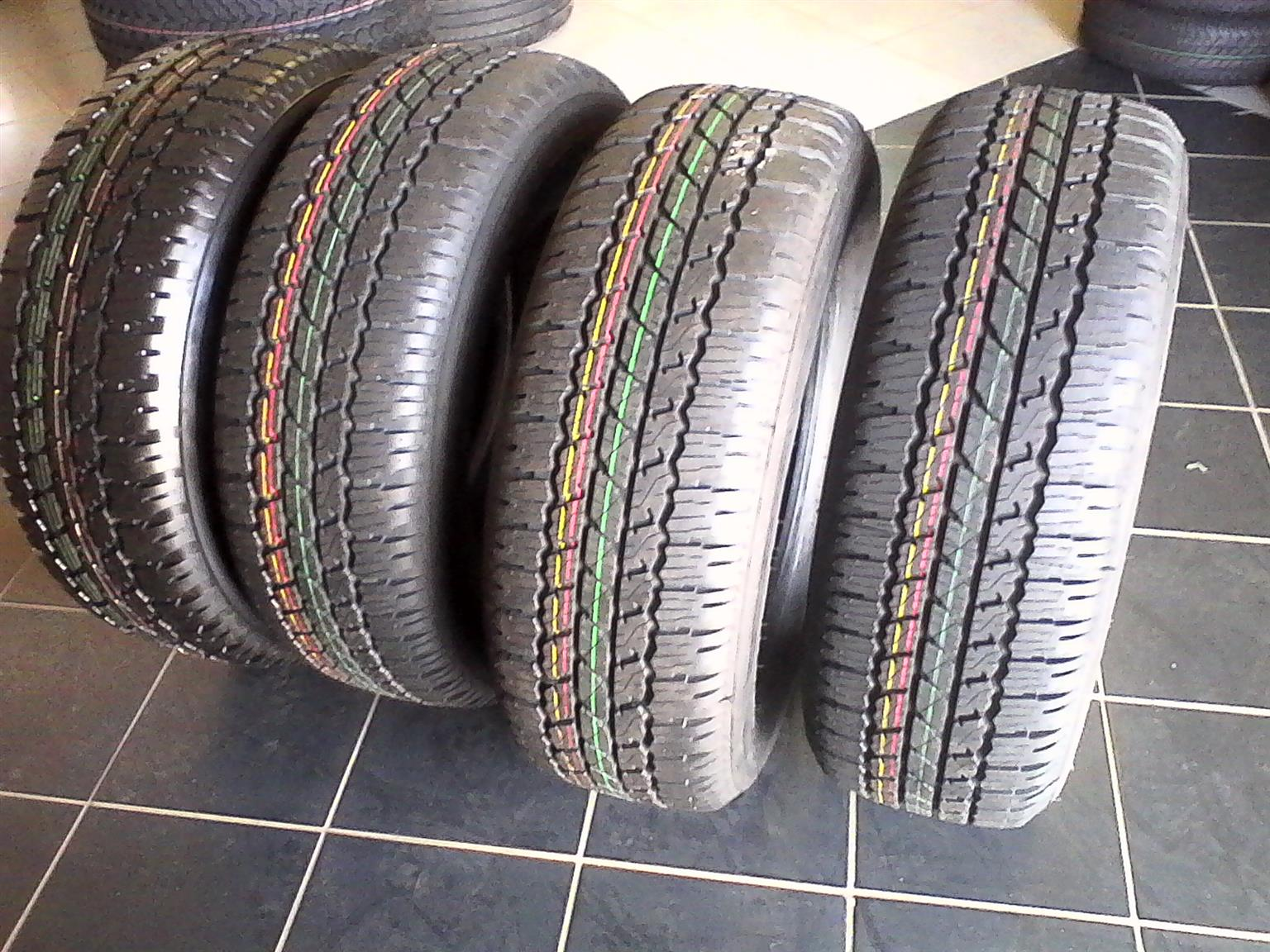 New Bridgestone dueler A/T 265/65/R17 Tyres with mag rims for Toyota Hilux R10999 {Set of 4}.