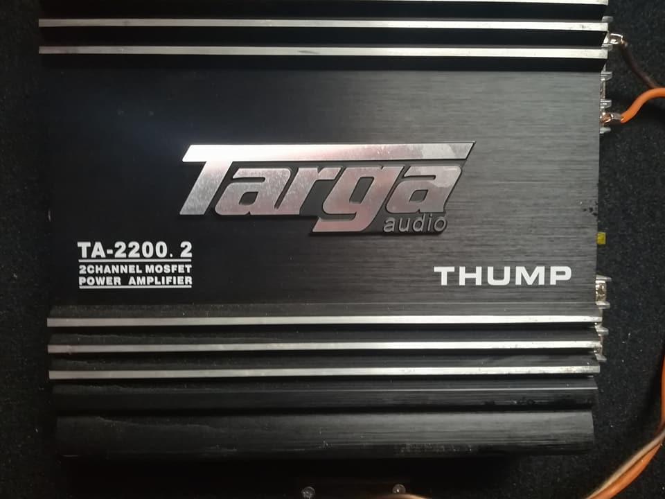 Targa Sub met box en amp 4000w sub en 3000w amp
