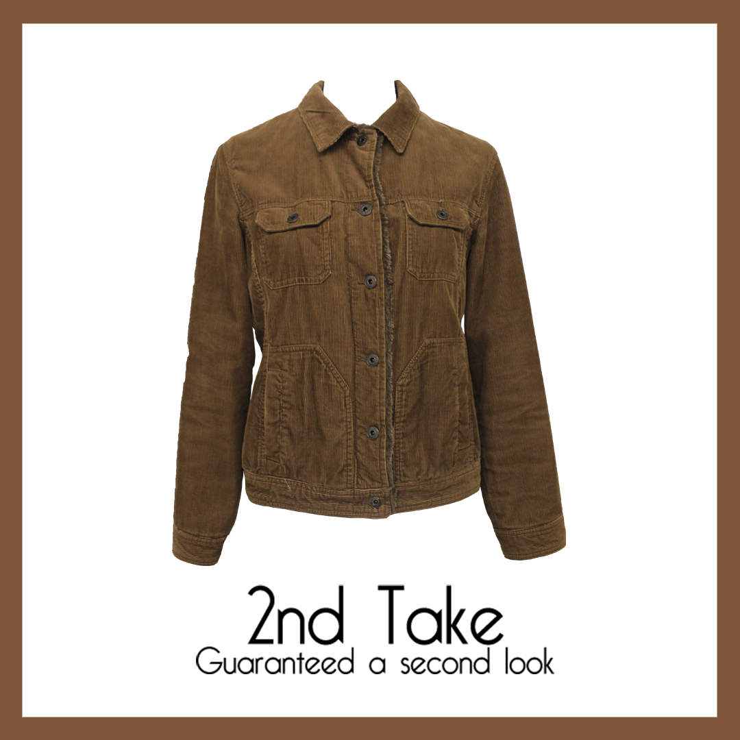 Stay on trend with designer secondhand corduroy jackets available at 2nd Take!