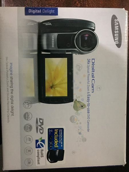 Samsung Digital Video Camera 34x Optical zoom.