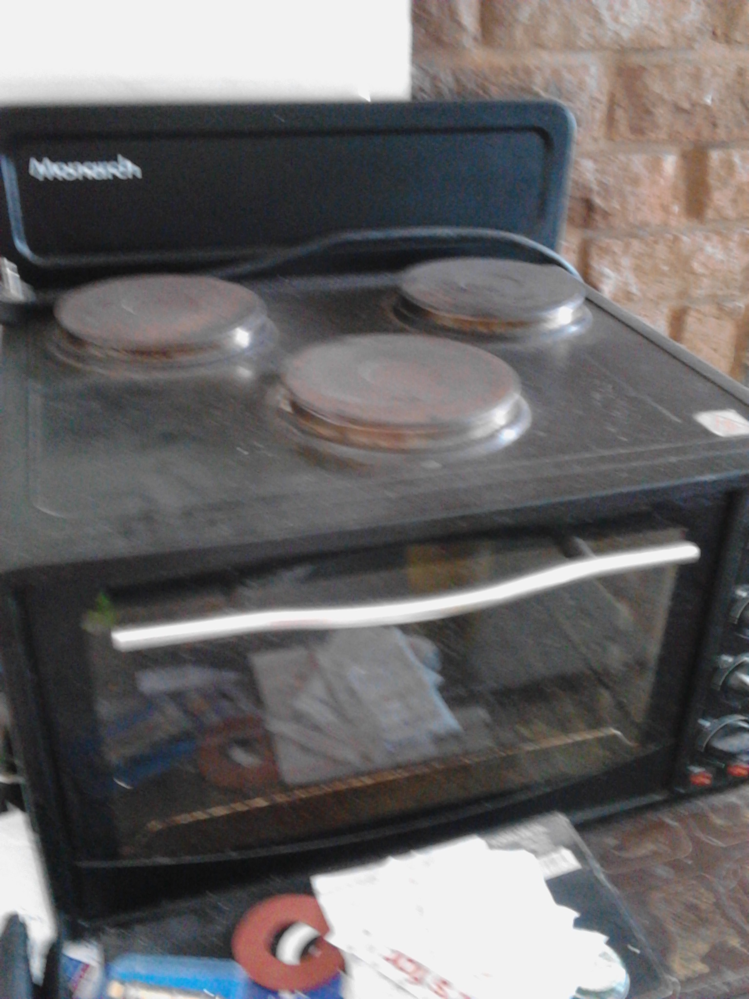 3 plate table high stove with oven