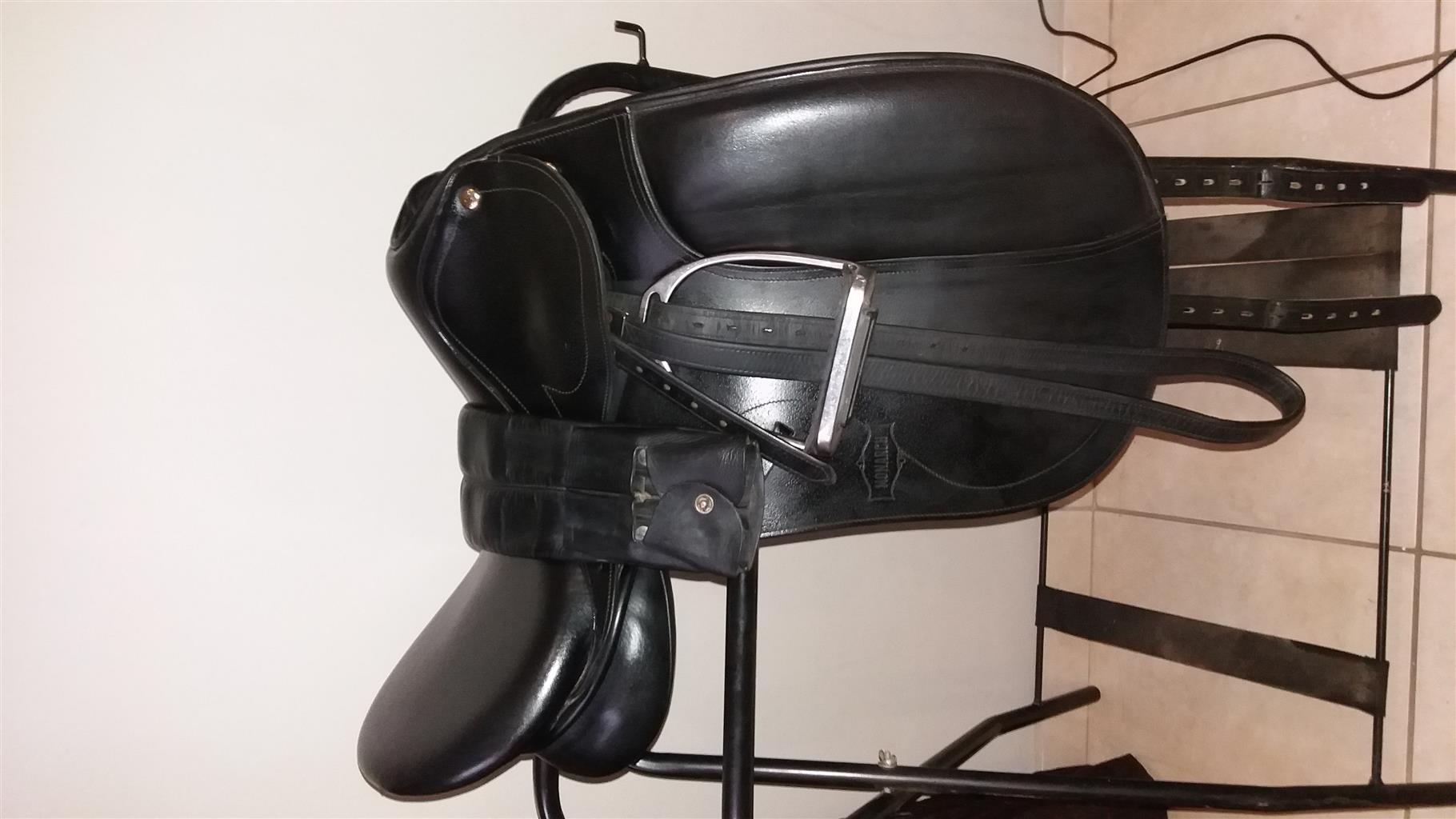 "17"" Monarch dressage saddle for sale."
