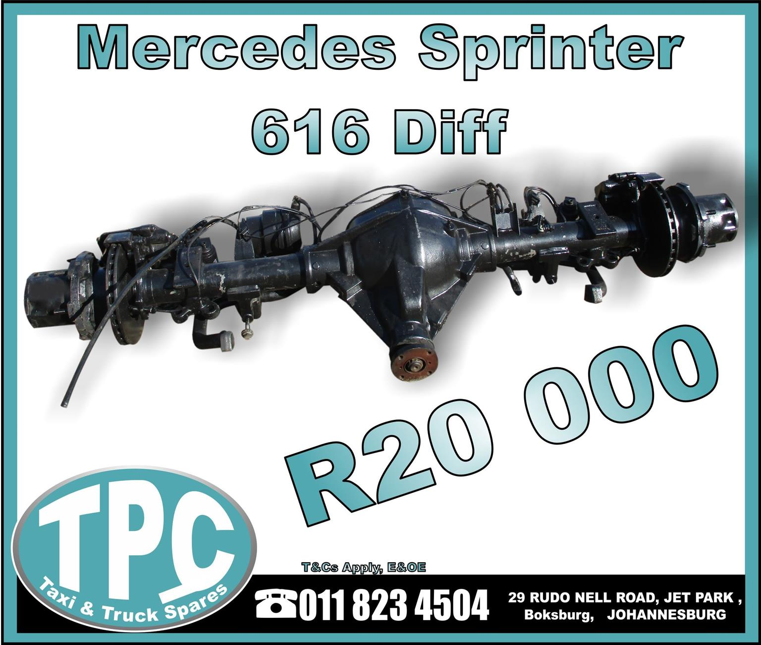 Mercedes Sprinter 616 Truck Diff - Used - New And Used Replacement Parts.