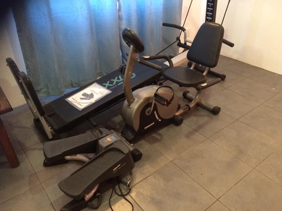 I'm selling gym equipment.
