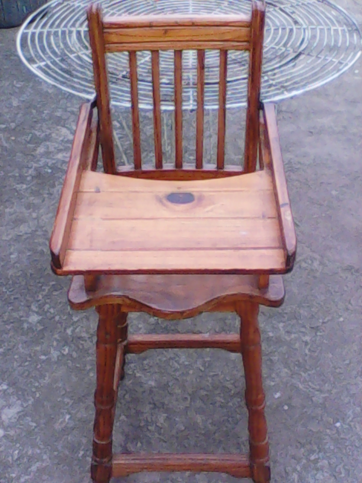 wooden baby feeding chair junk mail