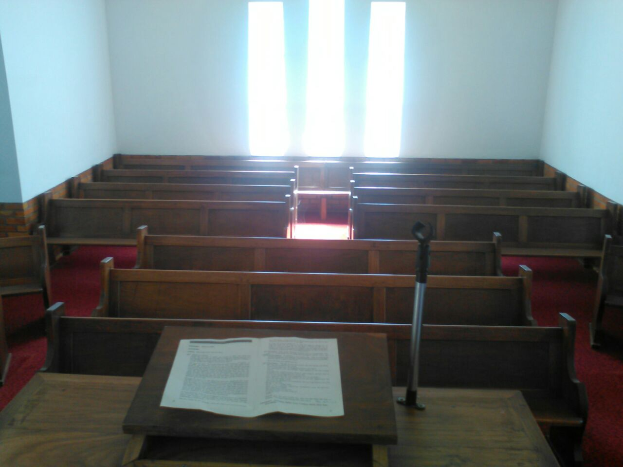 Church benches, pulpit and side panels