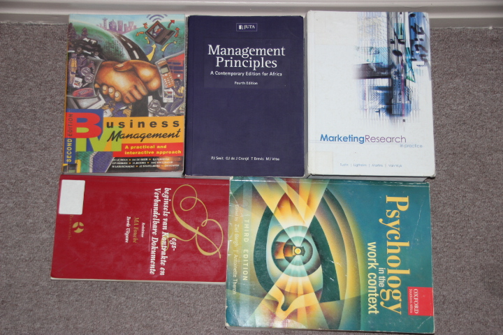 Marketing and Business management Study books sold separately