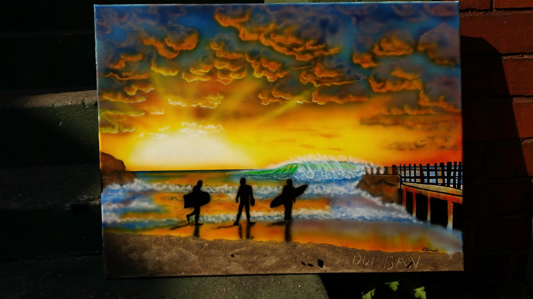 Custom airbrush your home or office!