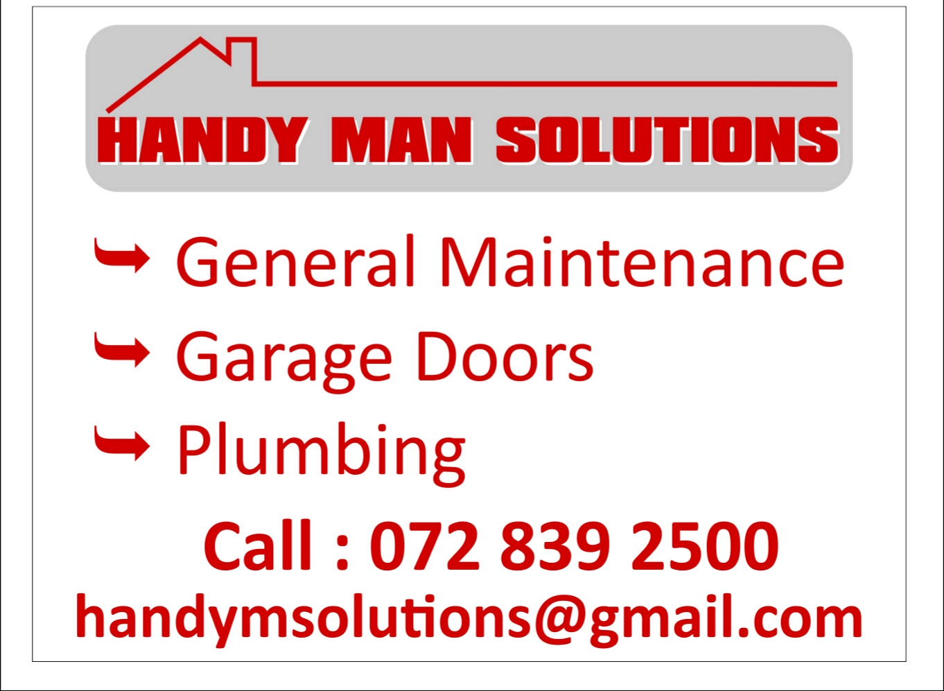 Handyman Services in South Coast   Junk Mail