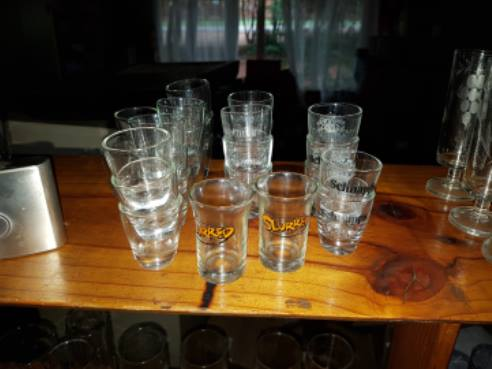 Various shooter glasses