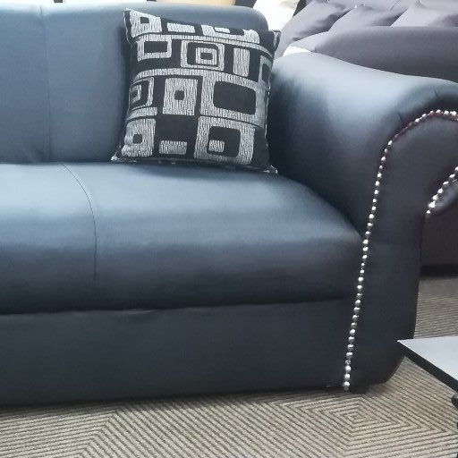 New black studded 2 seater couch