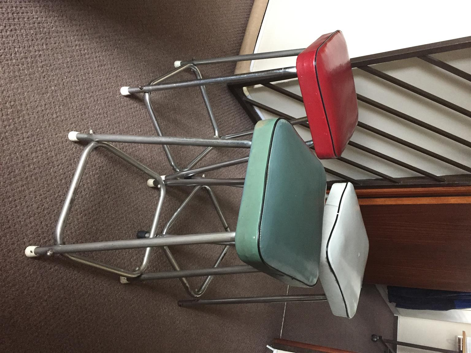 3 solid chairs