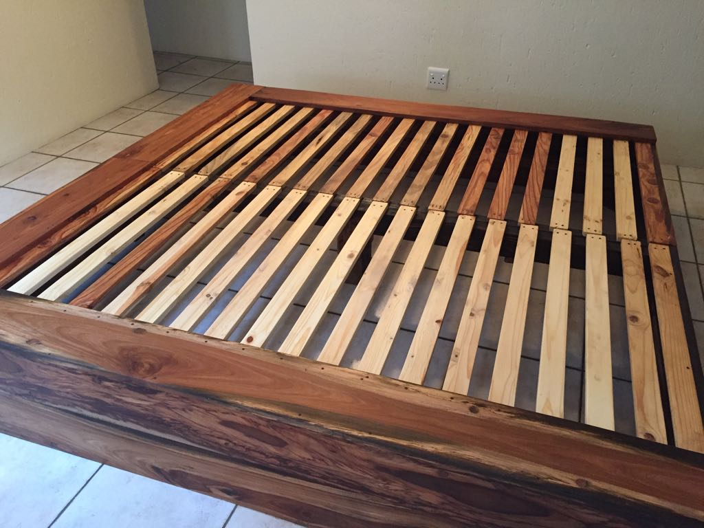 Rustic King Size Extra Length Platform Bed