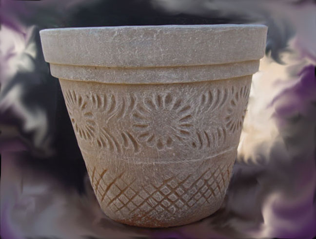 1PC007 Flower Motif pots