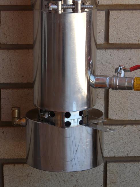 PARAFFIN GEYSER. STAINLESS STEEL. Only R 3500-00