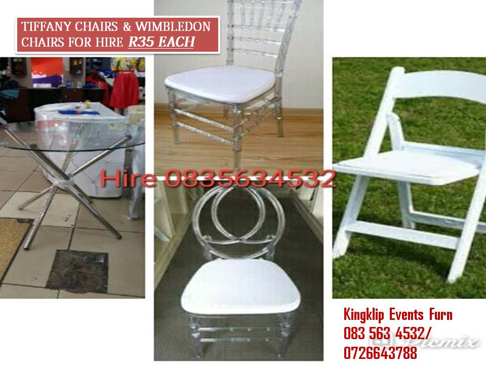 Tiffany chairs & Wimbledon chairs for hire