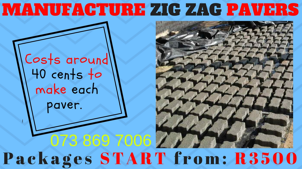 Start your OWN Paver manufacturing - FROM YOUR BACKYARD for only R3500