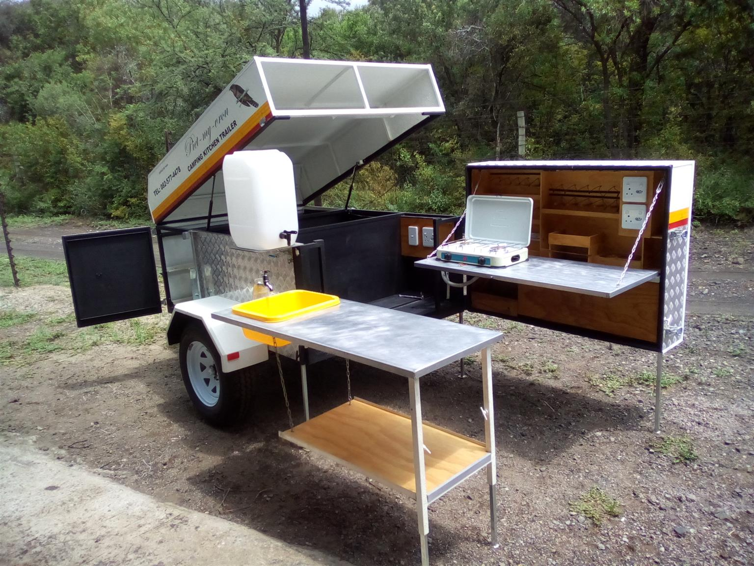 camping kitchen trailer 6 x 3 gazebo - Camping Kitchen