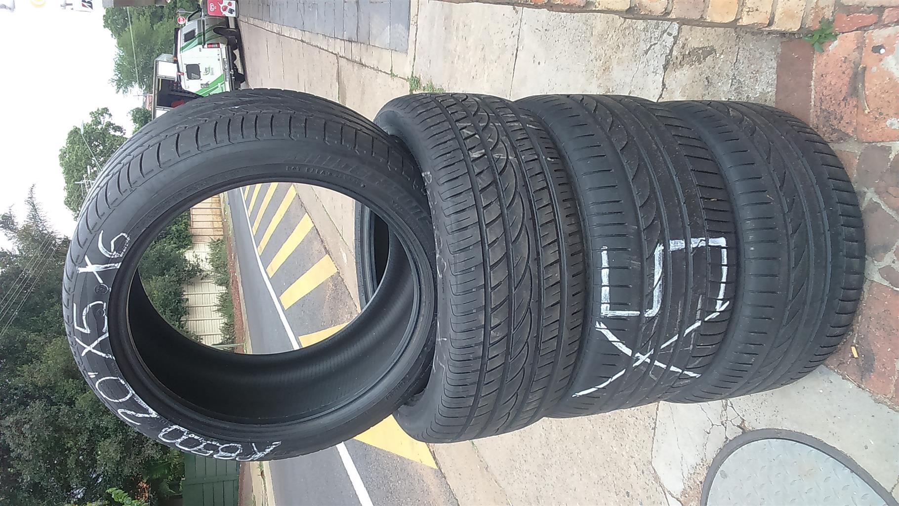"Runflat Bridgestone tyres 20"""