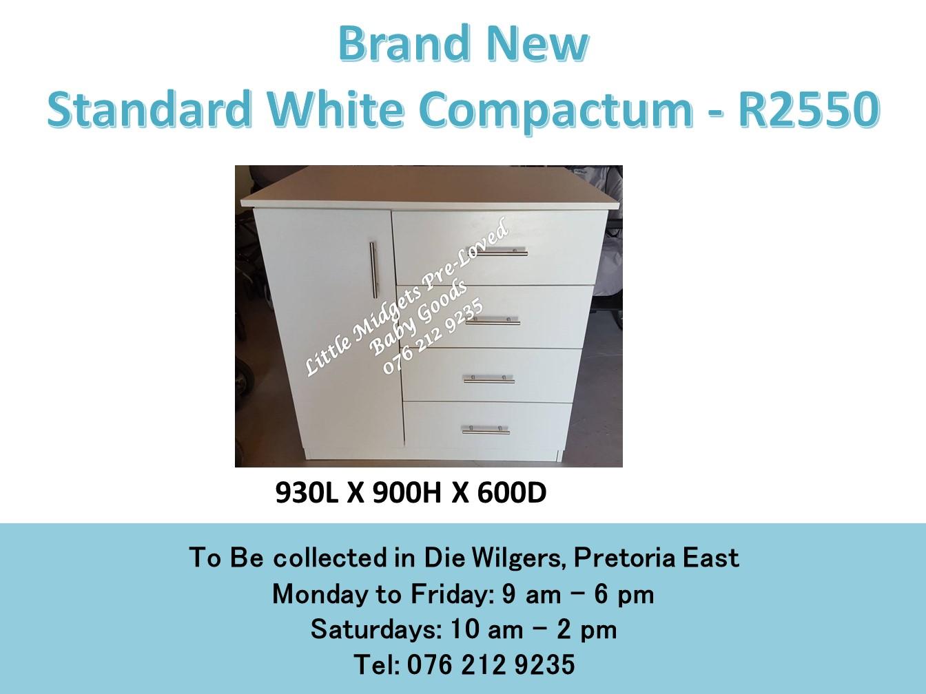 Brand New Standard White Compactum (930L X 900H X 600D)