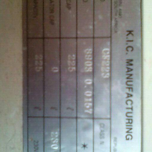 K.I.C freezer 225L