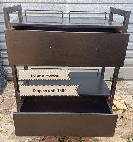 Two drawer display unit