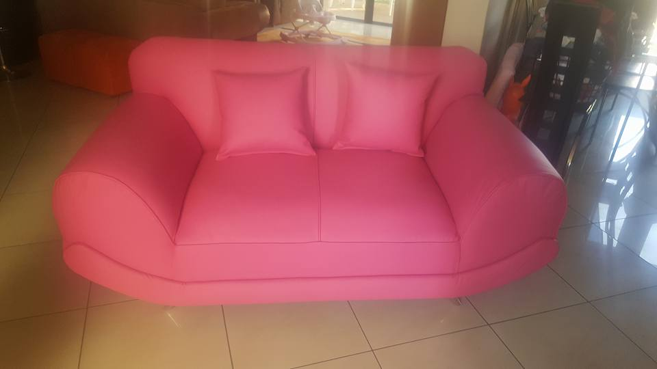 Pink California 2 seater couch