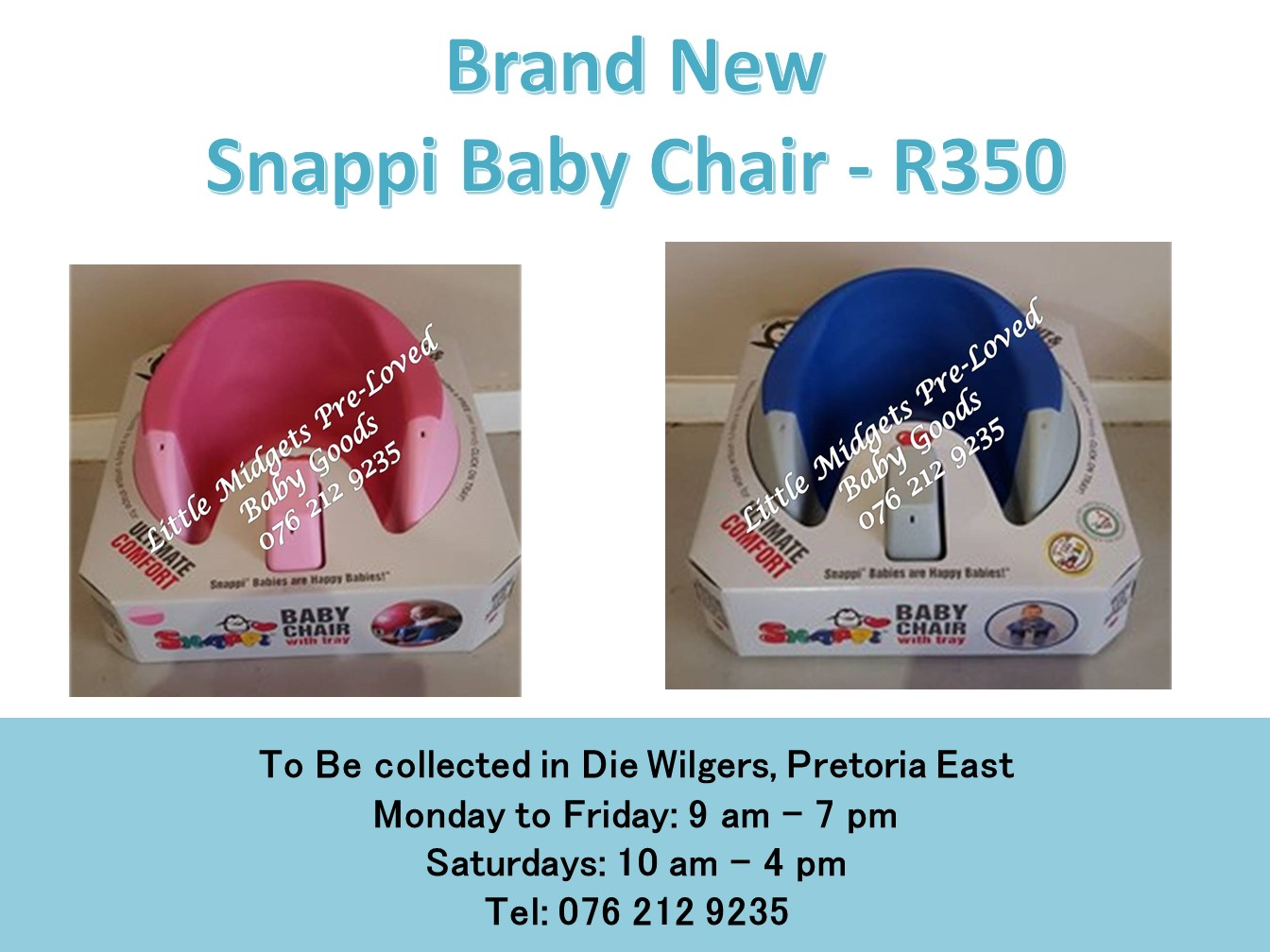 Brand New Snappi Baby Chair