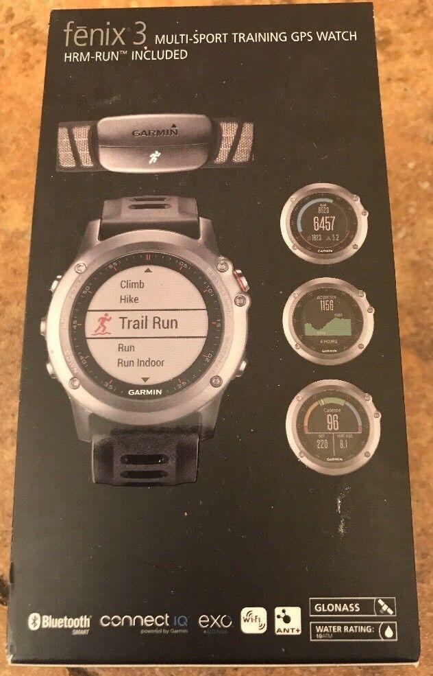 Garmin Fenix 3 Multisport Training GPS Watch Hrm-run Bundle