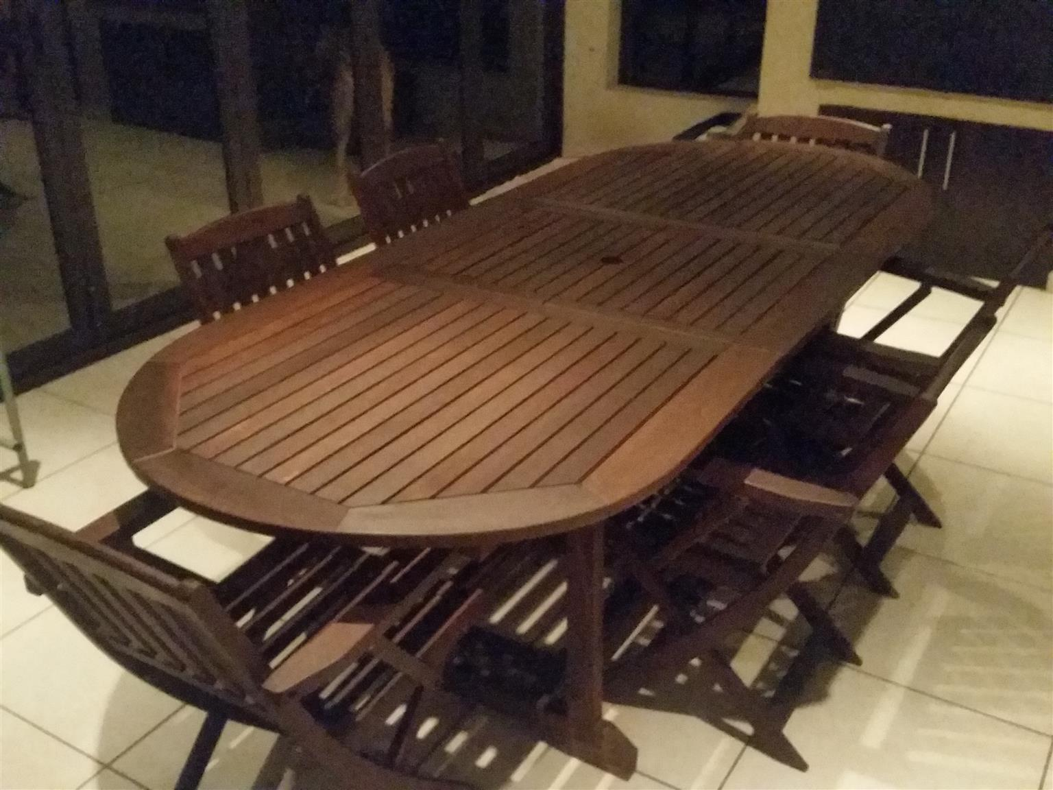6 Seater wooden patio set