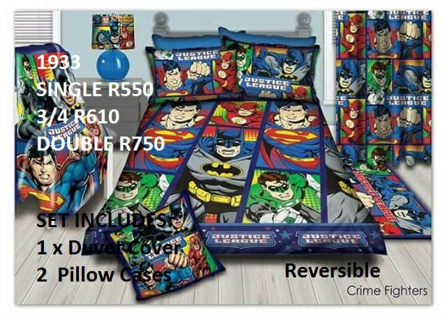 Justice league kamer stel