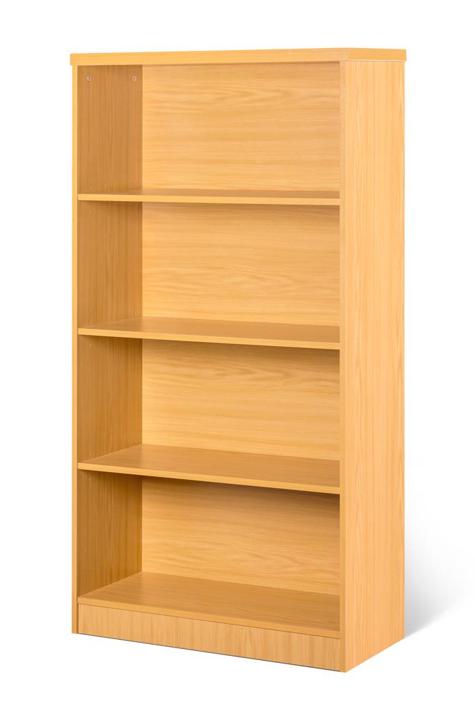 4 Tier bookcase with 3 adjustable shelves. Natural Oak!!