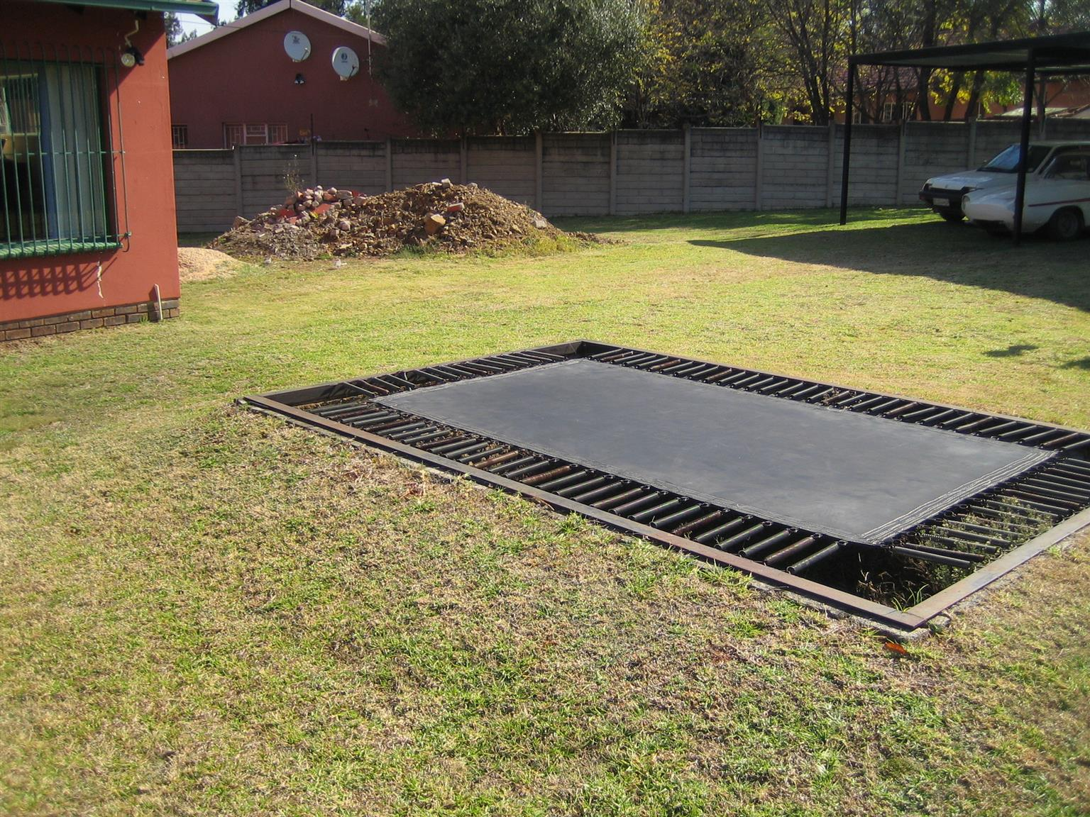 in ground trampoline x2 available