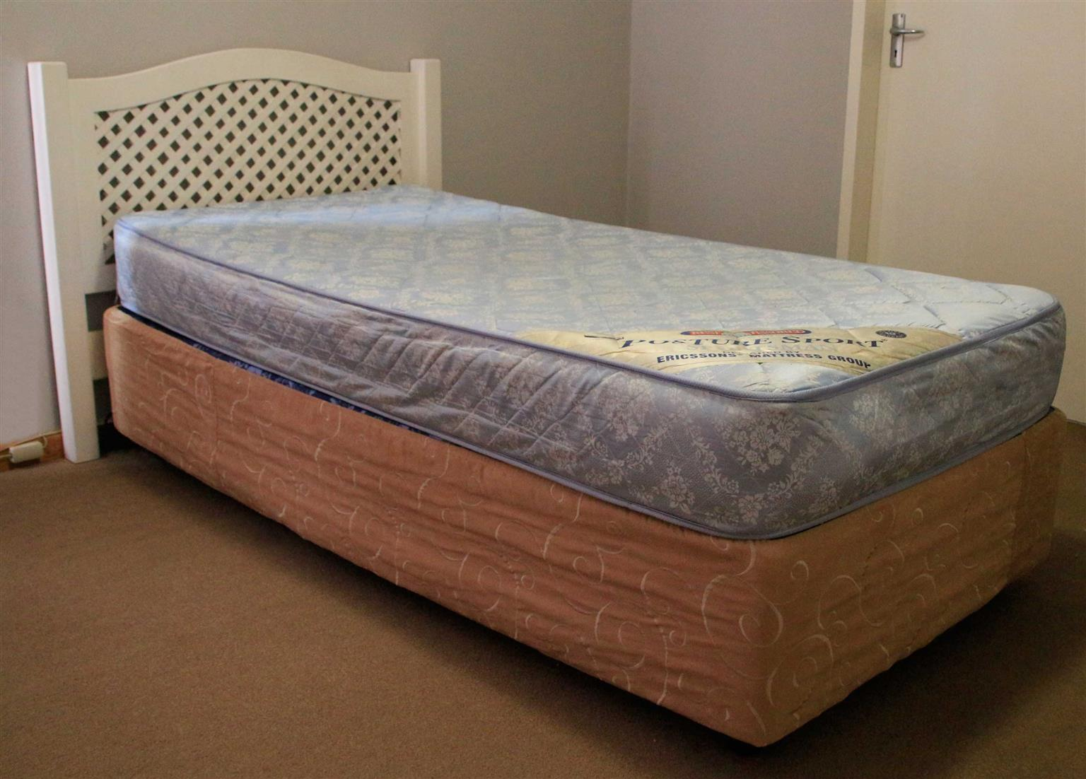 Bed double base single bed with headboard