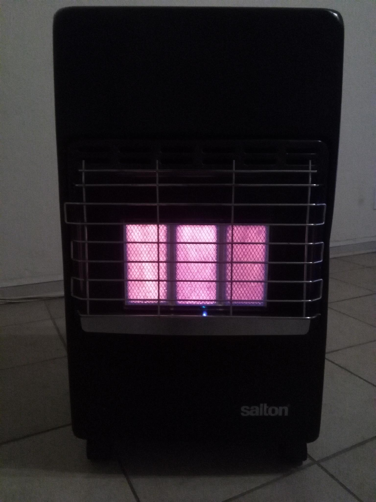 3panel gas heater with 9kg cylinder