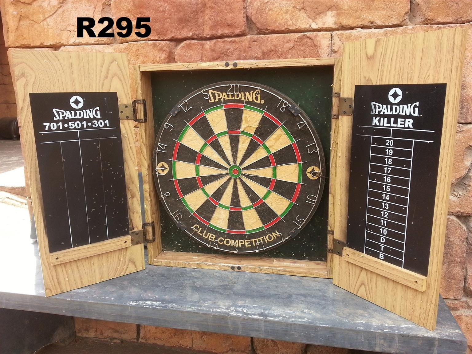 Spalding Dartboard in Cabinet (Used)
