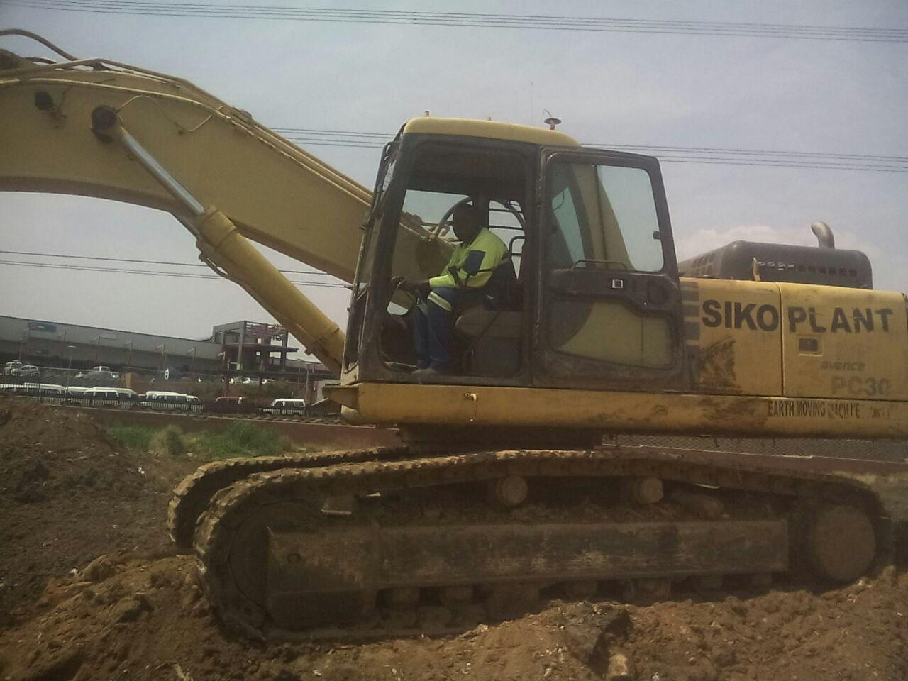 ZIMBABWEAN EXCAVATOR OPERATOR.