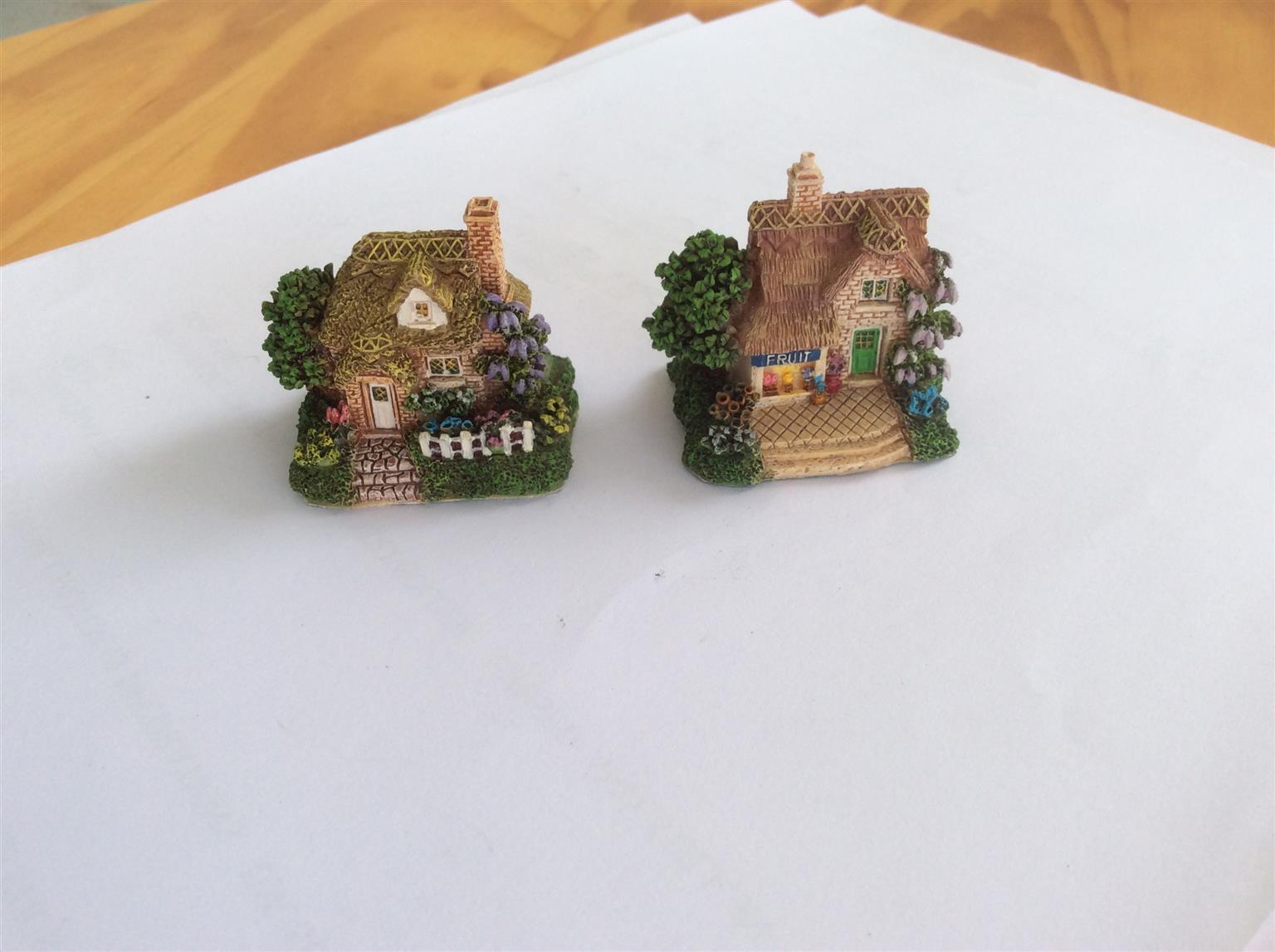 Miniature English cottages