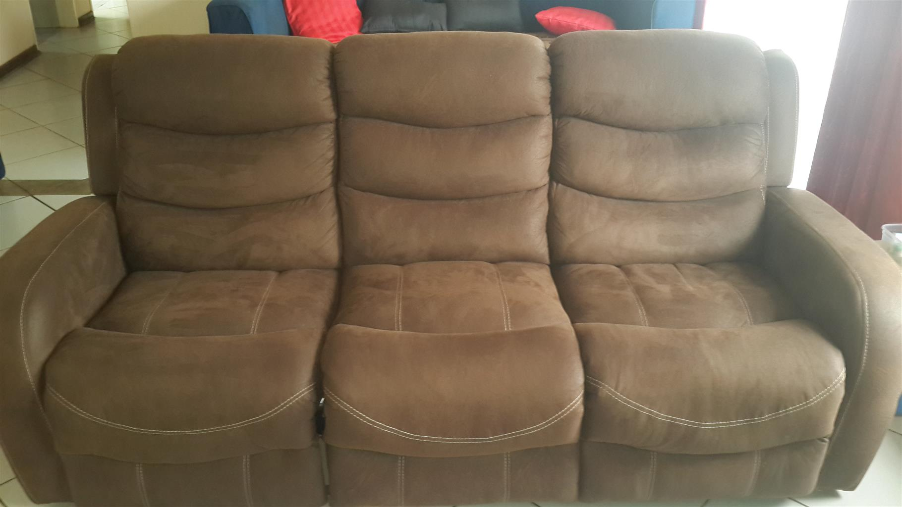 Marco 3 Piece Recliner Lounge only 4 months old