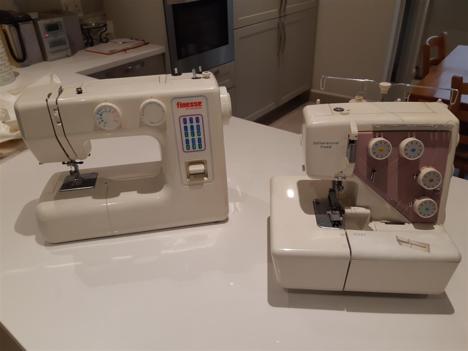 Sewing machine and over locker for sale