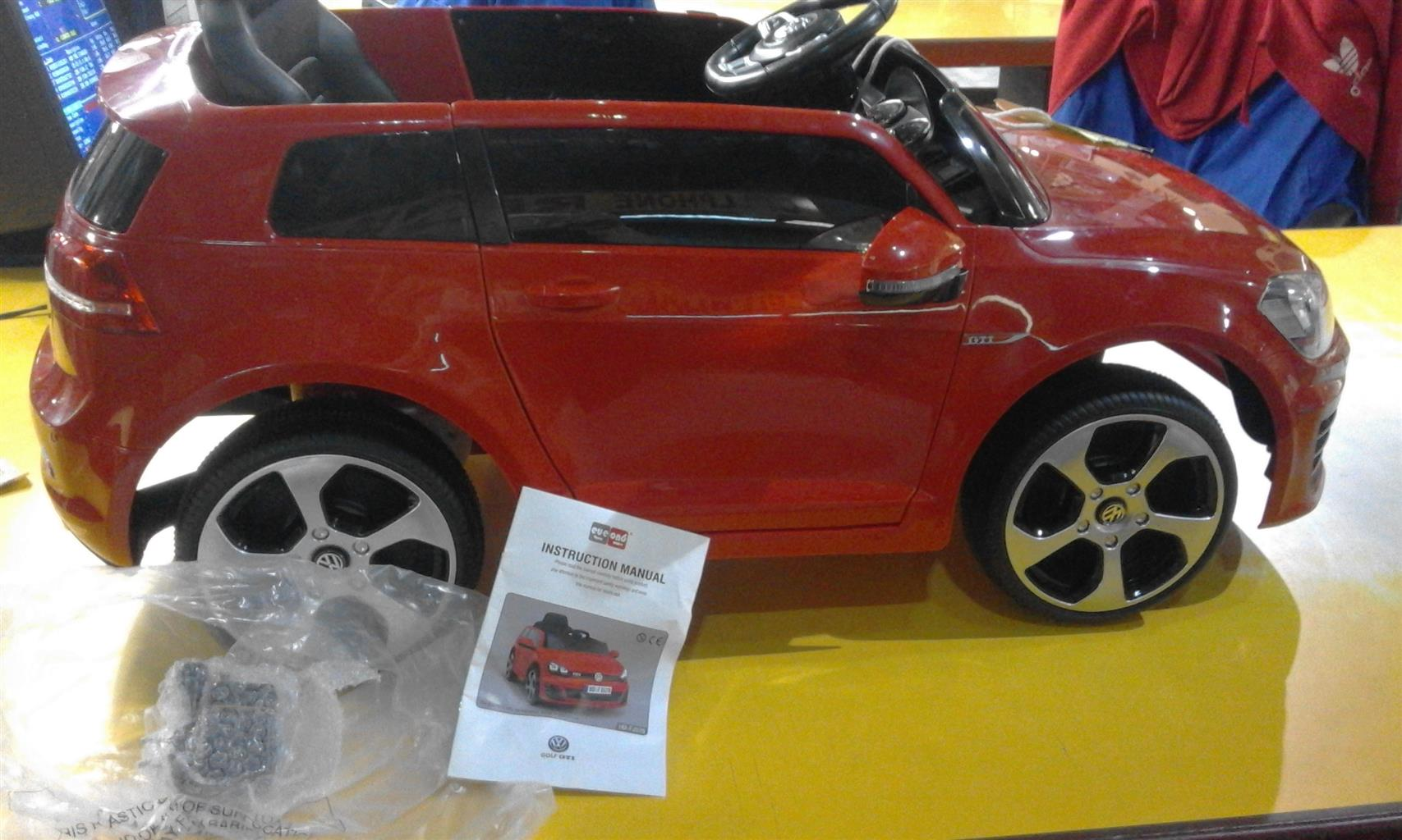 Excellent condition  used Kiddies electric car VW with sound, 1 year old, hardly used,plays music worth R5500.00