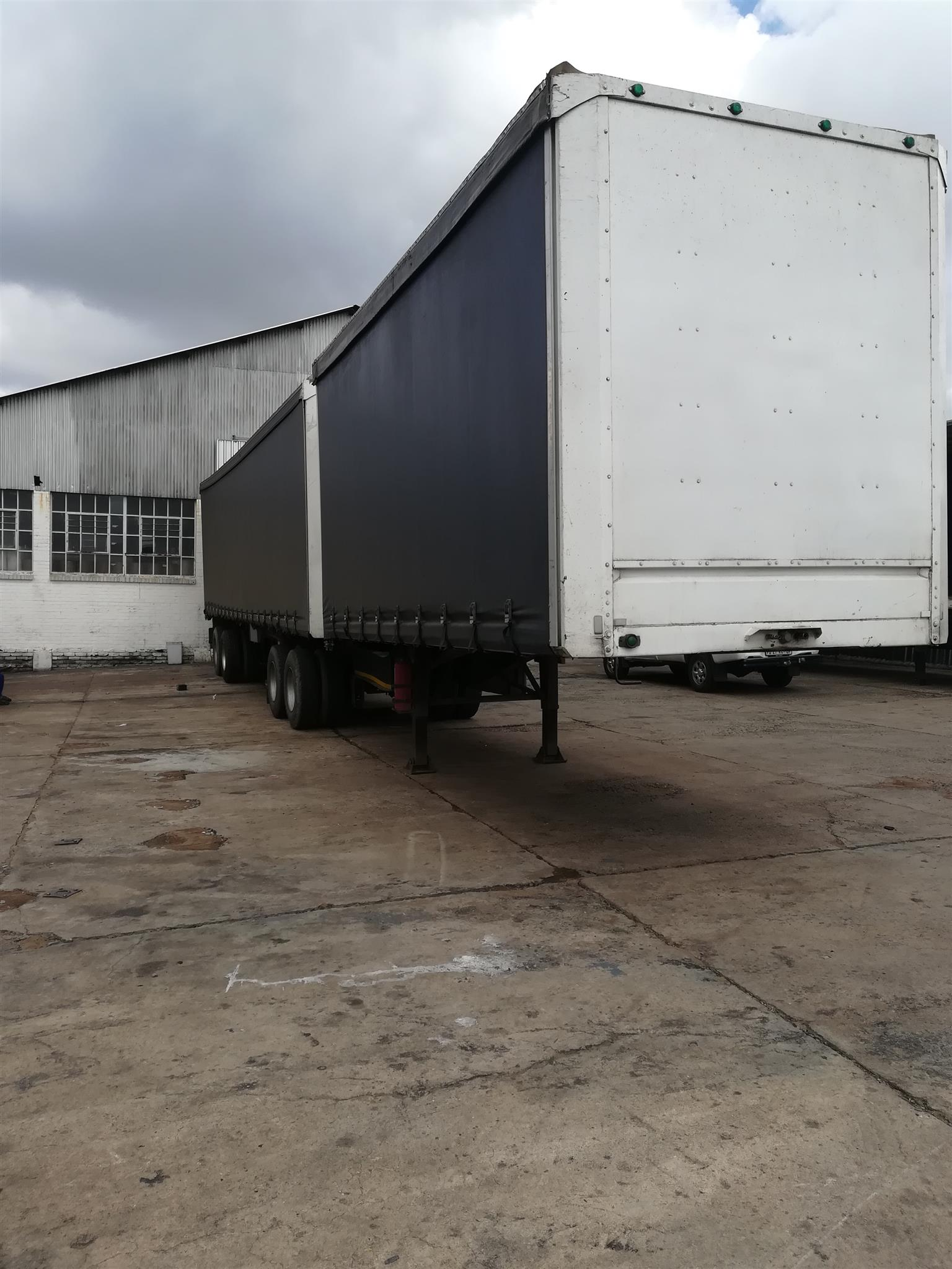 Curtain Side Super Link Trailer For Sale