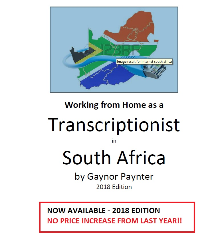 E-Book Working From Home as a  Transcriptionist in South Africa