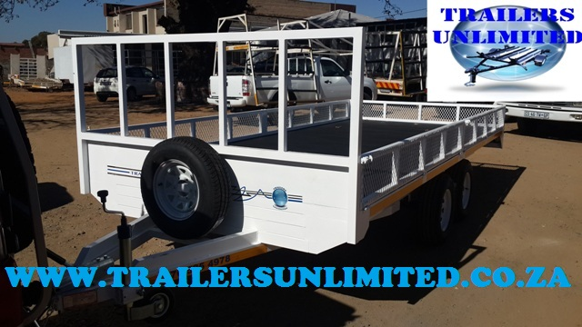 Flat Bed Trailer 5900 x 1800 with Mesh